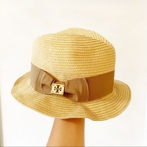 Tory Burch straw fedora hat